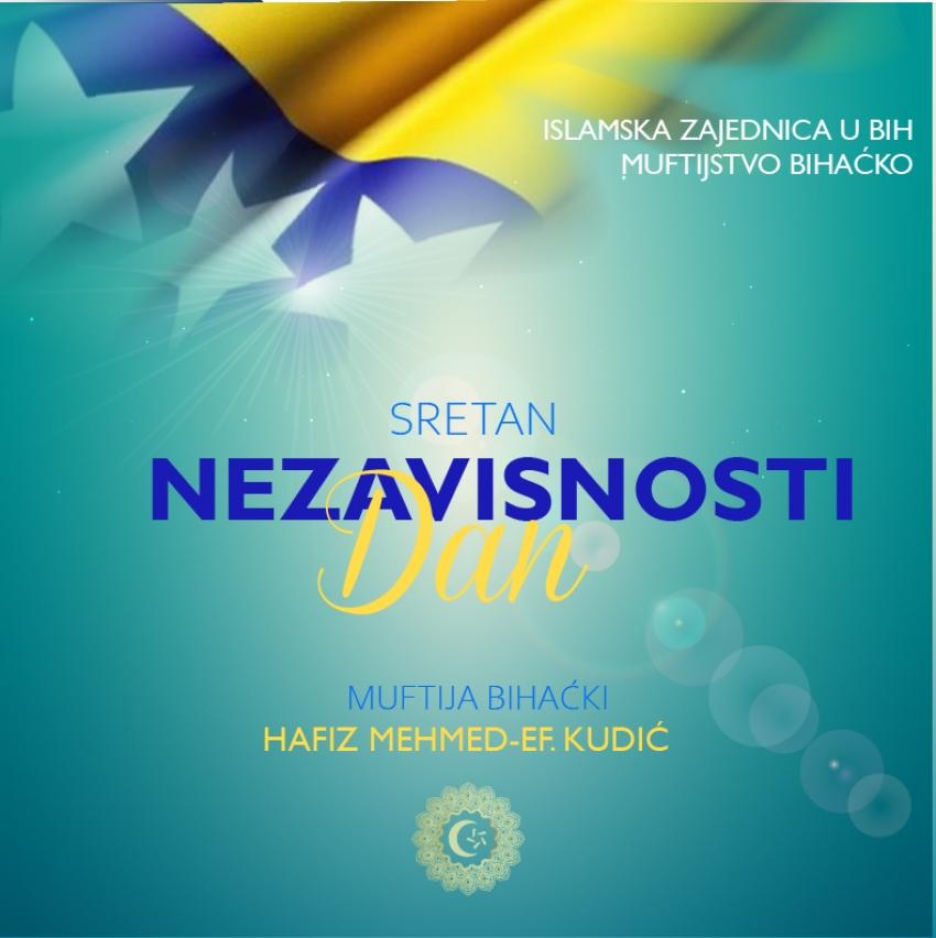 Čestitka muftije Kudića povodom Dana nezavisnosti BiH