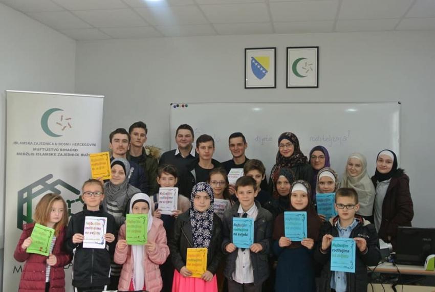 """Radionica """"Dobročinstvo prema roditeljima"""" Mreže mladih Medžlisa IZ Bužim"""