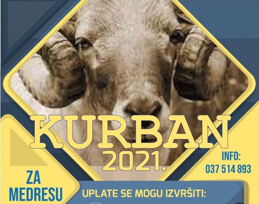 """Akcija """"Kurban 2021"""" za potrebe medrese """"Reis Džemaludin-ef. Čaušević"""" u Cazinu"""