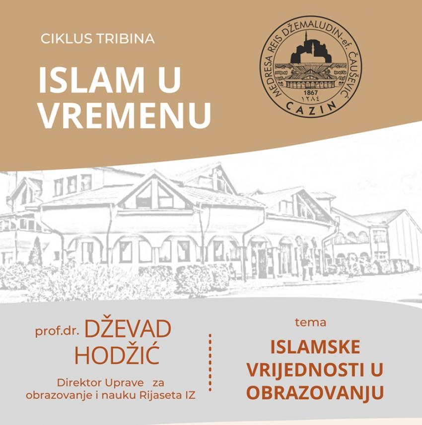 """Novi ciklus tribina u medresi """"Reis Džemaludin-ef. Čaušević"""" u Cazinu"""