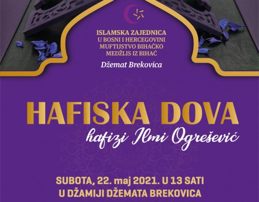 Hafiska dova hafizi Ilmi Ogrešević iz Bihaća